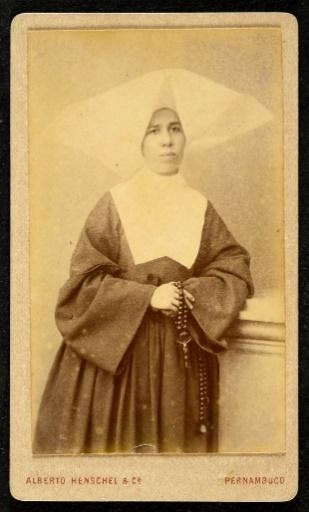 Alberto Henschel & Cia. Feliciana Xavier de Brito, freira Recife, Pernambuco Carte de visite