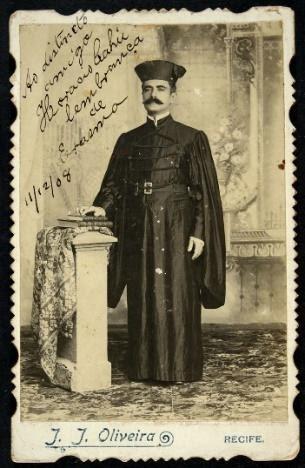 J. J. Oliveira Erasmo, bacharel em Direito Recife, Pernambuco, 1908 Cabinet
