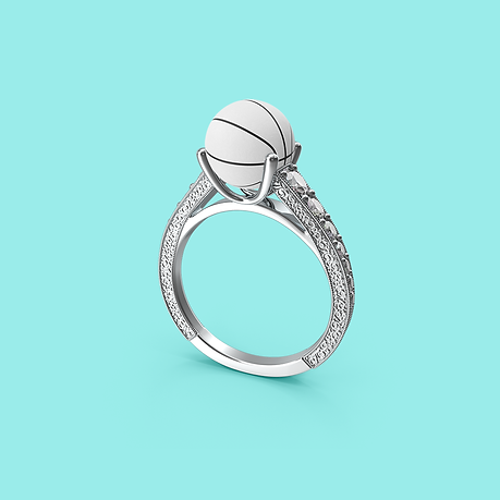 Basketball engagement ring