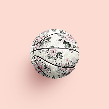 Floral basketball art