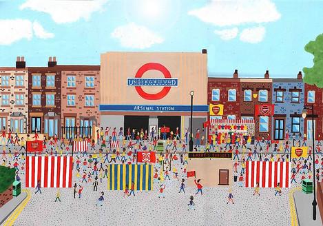 Arsenal Tube Station on Match Day
