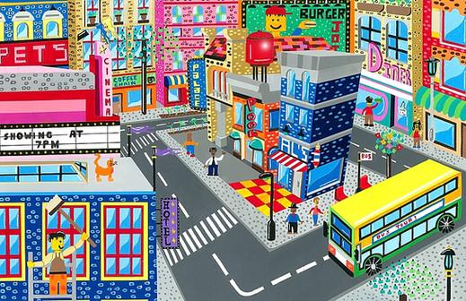 Lego city scene commission