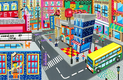 Lego city scene commission
