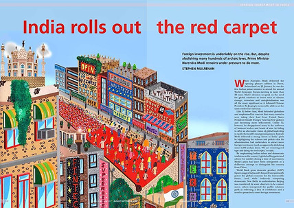 """IBA Magazine Commission - """"India Rolls out the Red Carpet"""""""