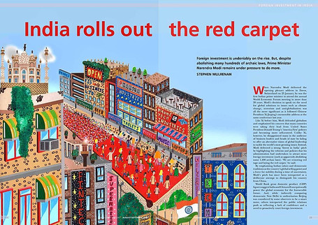 "IBA Magazine Commission - ""India Rolls out the Red Carpet"""