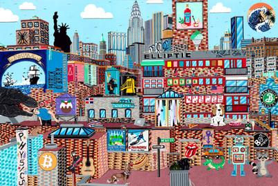 New York, Manhattan Street Scene Private