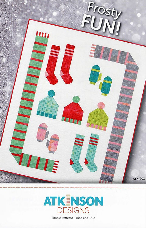 "Frosty Fun Pattern  46.5x57.5"" by Atkinson Designs ATK-203"