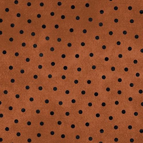 Woolies Flannel - Polka Dots - Brown