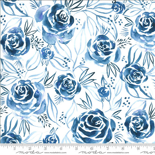 Moody Bloom by Create Joy Project for Moda - Indigo 58443D-13