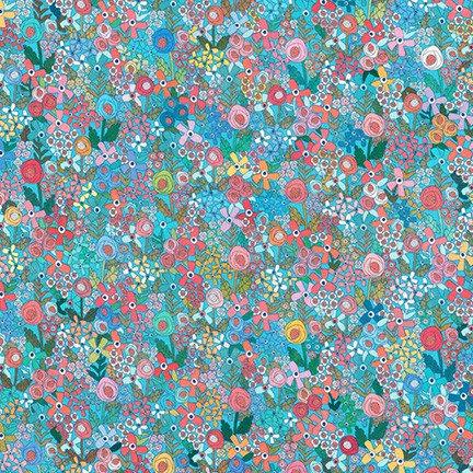 Happy Place by Robert Kaufman Fabrics 19460-391 Paris Blue