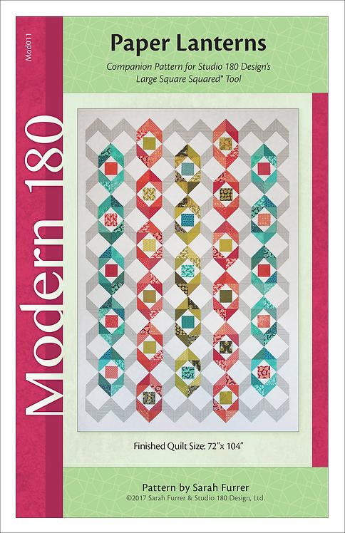 """Paper Lanterns Quilt Pattern - 72""""x104"""""""