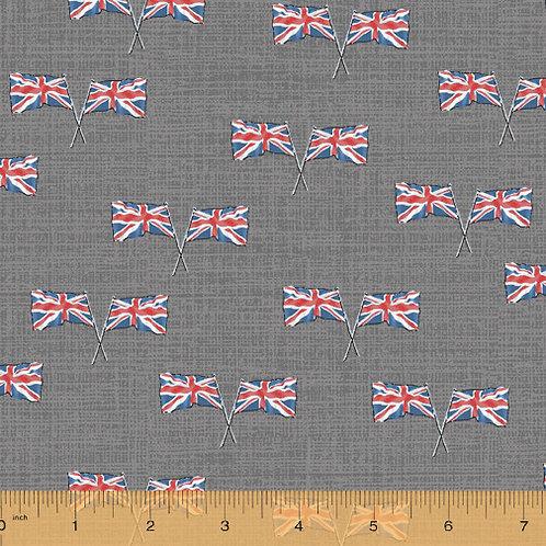 London - Union Jacks by Windham Fabrics - Grey 52347-4
