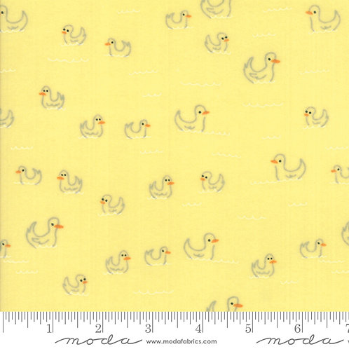 Soft & Sweet Flannel - Ducks - Yellow