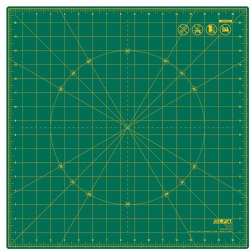 "Rotating Cutting Mat 17"" SQ - Self Healing - OLFA-SQ-RM-17S"