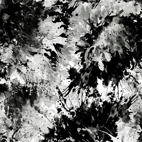 """Splash 108"""" Digital Quilt Backs - Black & White"""