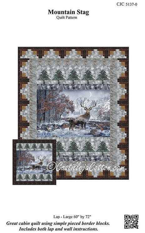 Mountain Stag - Panel Pattern #CJC-5137