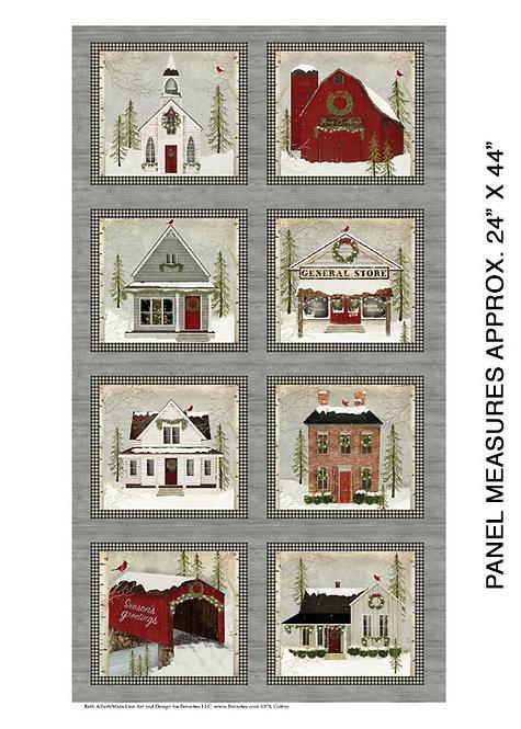 "Snow Village Christmas PANEL - 24"" - 16880-99"