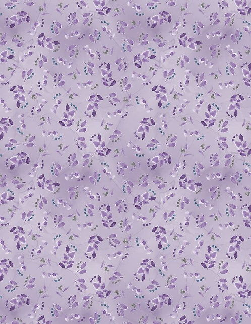 Awakenings by Wilmington Prints - Leaves Berries Violet - 3039-13406-664
