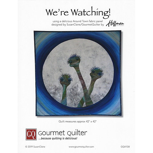 """We're Watching Pattern by Susan Claire (42""""x42"""")"""