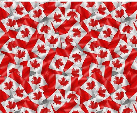 Canadianisms by Wilmington Prints - Canada Flags - Red 1469-7457-313