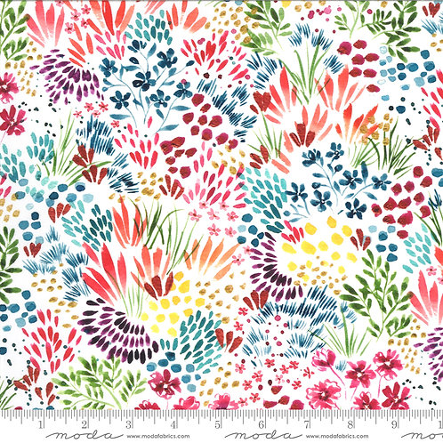 Moody Bloom by Create Joy Project for Moda - White Multi 58444D-11