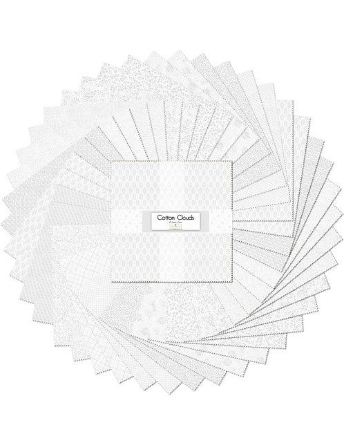 "10 Karat Essentials Gems by Wilmington - Cotton Clouds 10"" Squares x 40 pc"