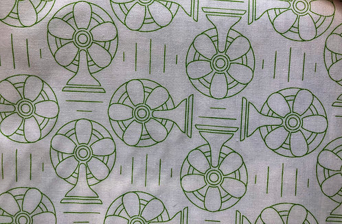 Bee Happy Background  by Lori Holt - Green Fans - C6390 (Length=2.4m)