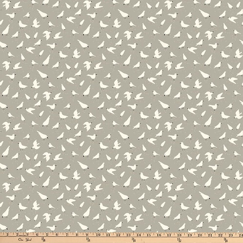 Bittersweet - Birds - White on Grey