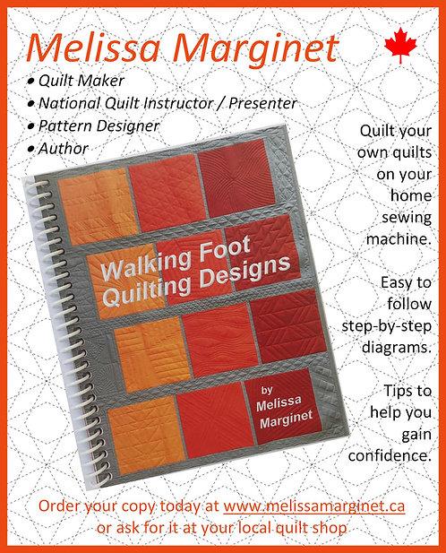 Walking Foot Quilting Designs Book by Melissa Marginet