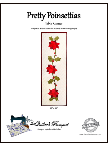 Pretty Poinsettias Table Runner Pattern by Quilter's Bouquet