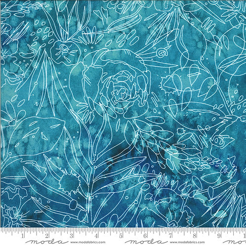 Moody Bloom by Create Joy Project for Moda - Teal 58447D-15