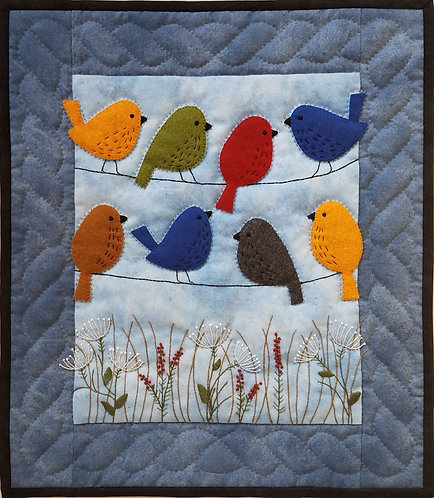 Birds on Wires Wallhanging Kit by Rachel's of Greenfield - K0421