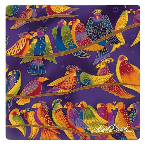 Laurel Burch Coasters  by Monarque - Songbirds