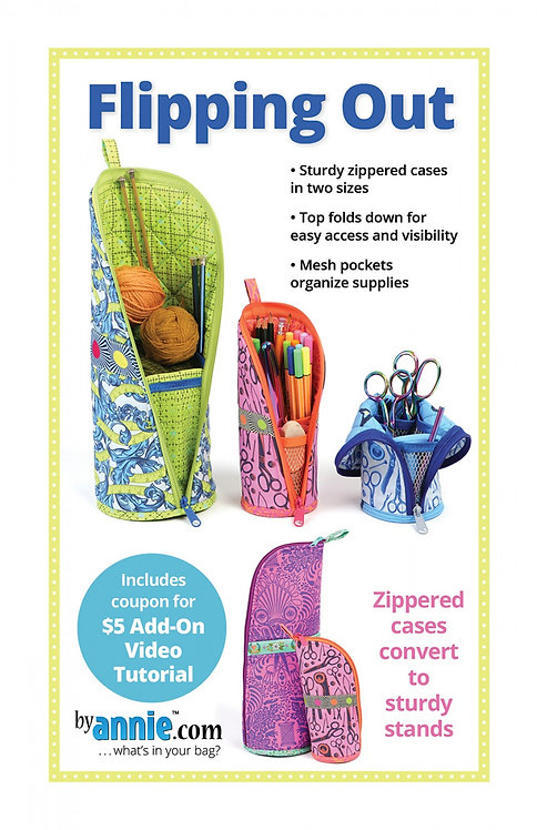 Flipping Out Zippered Cases by Annie - Two sizes - PBA287