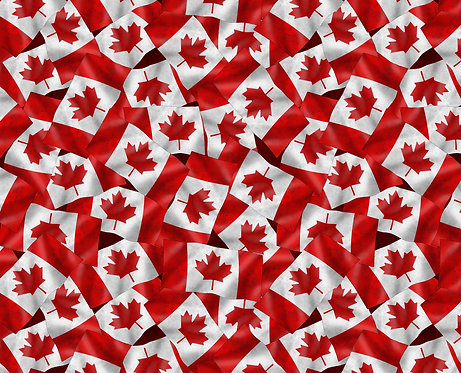 Canadianisms by Wilmington Prints - Canada Flags - Red/Black 1469-7457-313