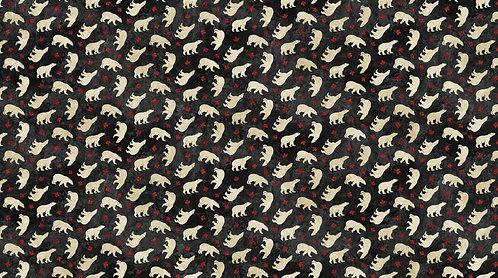 Oh Canada Flannel 2019 - Black w/Polar Bear