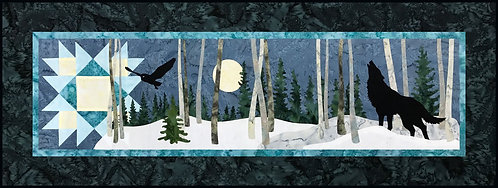 "Night Watch Laser Cut Kit - by Northern Threads - 14.5"" X 41.5"""