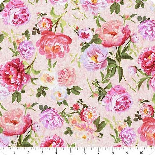 Flower Study by Machael Davis for Wilmington - Flowers Peach 96456-337