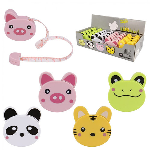Animal Tape Measure - Frog, Panda, Piggy or Tiger