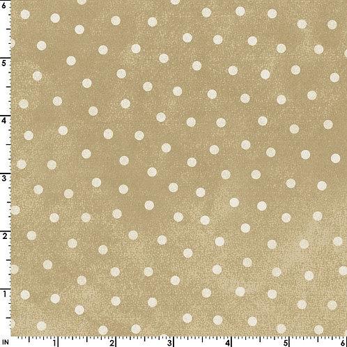 Woolies Flannel - Polka Dots - Tan