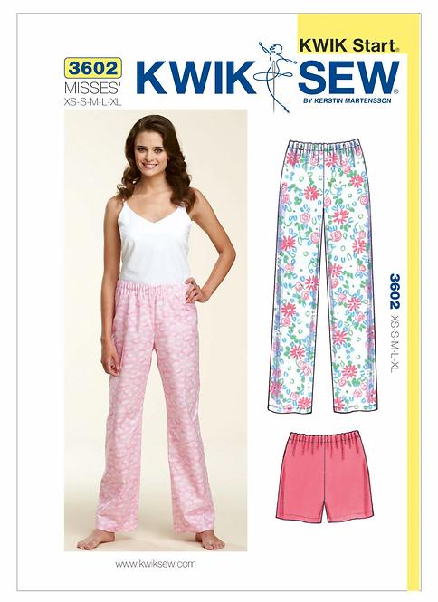 Kwik Sew Pyjama Pattern - Misses (K3602)