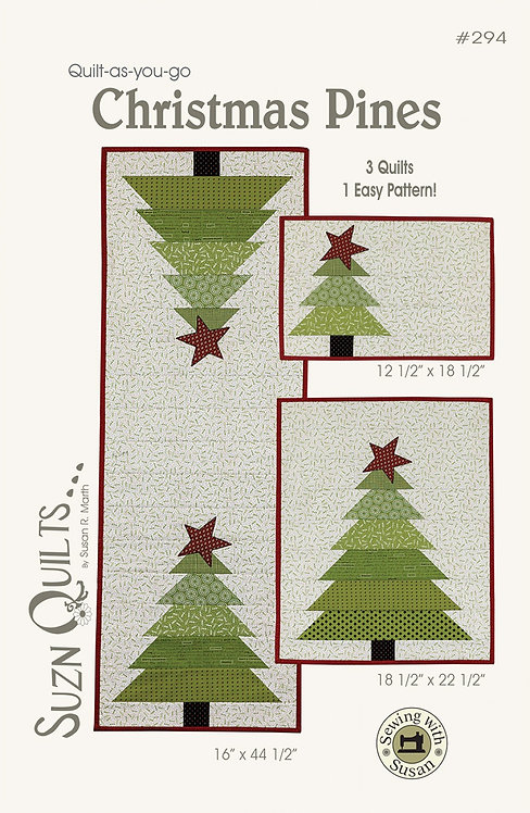 "Christmas Pine Tablerunner Kit - w/Binding 16"" x 44.5"""