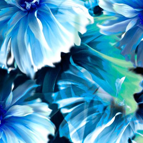 Kenzie - Abstract Blooms - Indigo