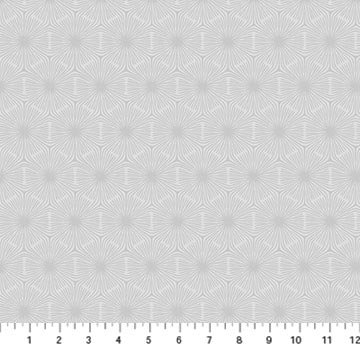 Simply Neutral 2 by Northcott - Hexagon - White on Grey 23916-92