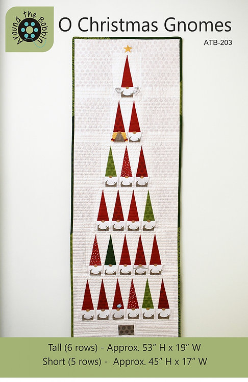 O Christmas Gnomes Wallhanging Pattern (2 sizes)