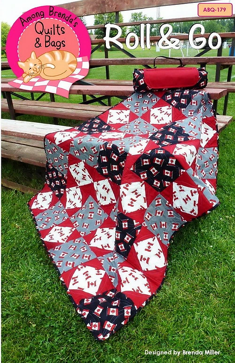 """Roll & Go Blanket Pattern -  48.5"""" x 64"""""""