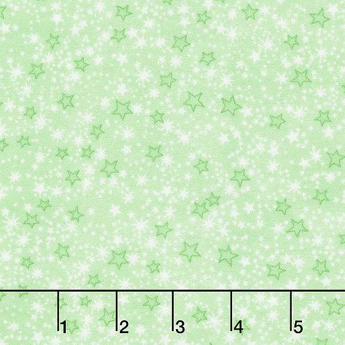 Comfy Prints Flannel - Stars - Green