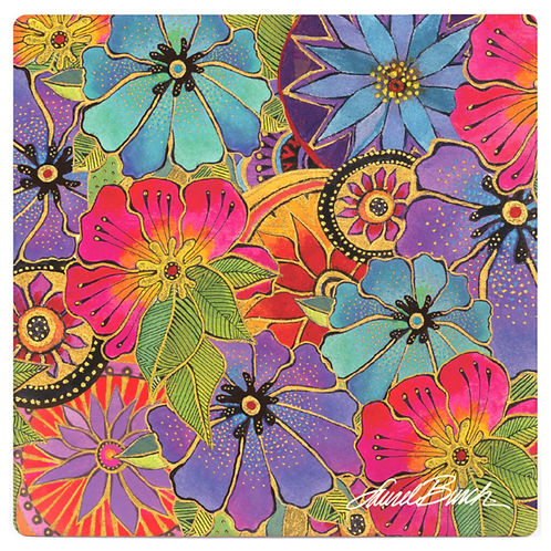 Laurel Burch Coasters by Monarque - Blossoming Florals