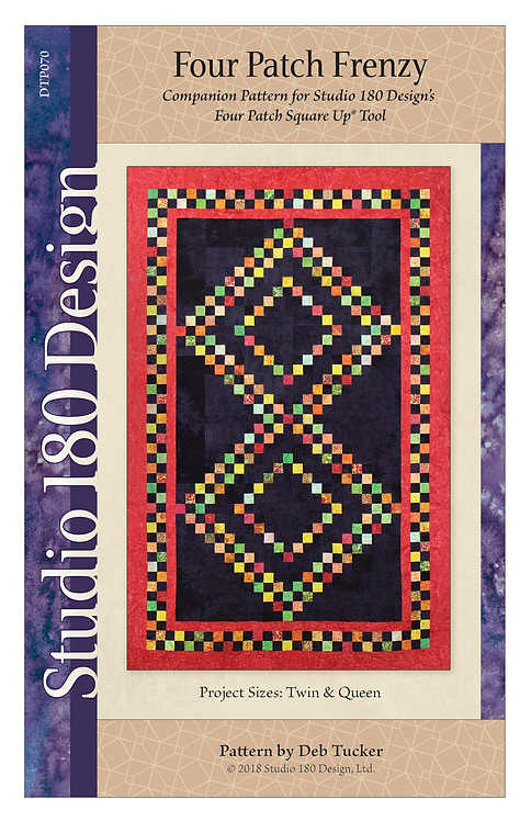 Four Patch Frenzy Quilt Pattern - Twin and Queen