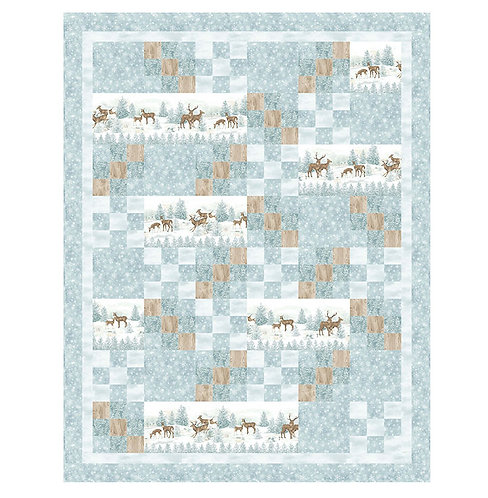 """Winterscape Flannel Quilt Kit - 53"""" x 68"""" Binding Included"""